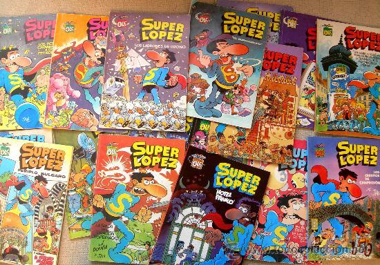 SUPER LOPEZ - SUPERLOPEZ. LOTE CON LOS 22 PRIMEROS NUMEROS DE LA COLECCIÓN OLE EN FORMATO PEQUEÑO (Tebeos y Comics - Bruguera - Ole)
