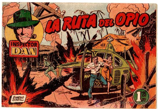 EL INSPECTOR DAN Nº 66 , EDI. BRUGUERA 1951, ORIGINAL, MUY DIFICIL (Tebeos y Comics - Bruguera - Inspector Dan)