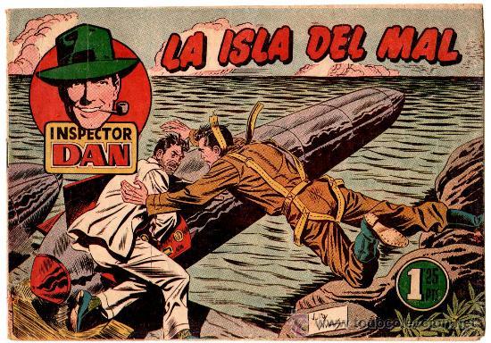 EL INSPECTOR DAN Nº 71 , EDI. BRUGUERA 1951, ORIGINAL, MUY DIFICIL (Tebeos y Comics - Bruguera - Inspector Dan)