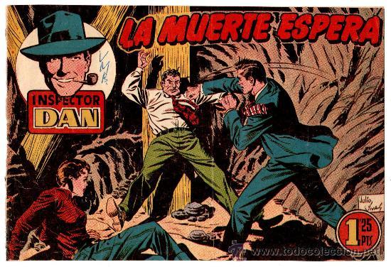 EL INSPECTOR DAN Nº 72, EDI. BRUGUERA1951, ORIGINAL,MUY, MUY DIFICIL, ES EL ÚLTIMO DE ESTA COLECCION (Tebeos y Comics - Bruguera - Inspector Dan)