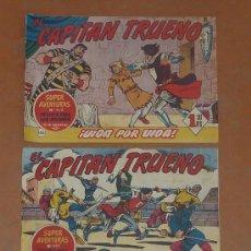 Tebeos: LOTE DE 3 COMICS ANTIGUOS. EL CAPITAN TRUENO Y EL SARGENTO FURIA.. Lote 43817259