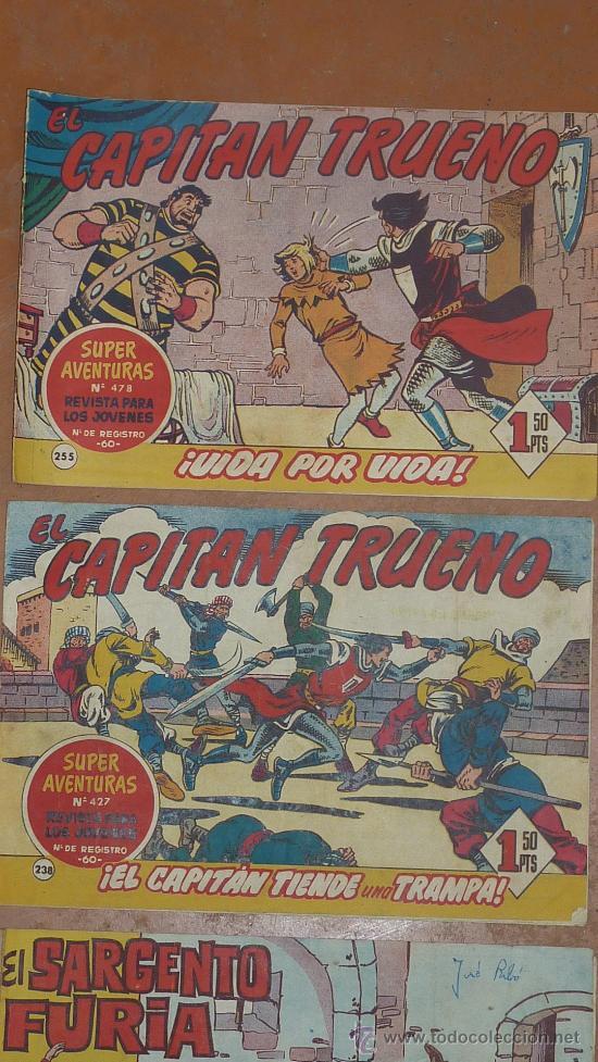 Tebeos: Lote de 3 comics antiguos. El capitan trueno y el sargento furia. - Foto 2 - 43817259
