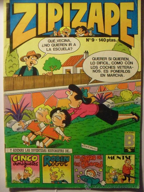 ZIPI Y ZAPE, Nº9 AÑO 1.987 (Tebeos y Comics - Bruguera - Cuadernillos Varios)