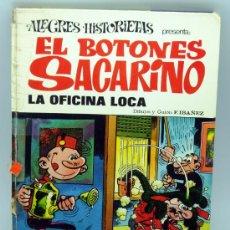 Tebeos: EL BOTONES SACARINO ALEGRES HISTORIETAS Nº 22 LA OFICINA LOCA EDITORIAL BRUGUERA 1973. Lote 25064034