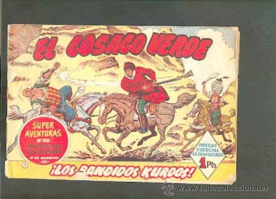 EL COSACO VERDE Nº 1, EDITORIAL BRUGUERA (Tebeos y Comics - Bruguera - Cosaco Verde)