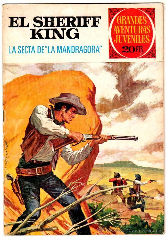 EL SHERIFF KING Nº 30, EDI. BRUGUERA, GRANDES AVENTURAS JUVENILES (Tebeos y Comics - Bruguera - Sheriff King)