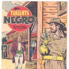 Tebeos: EL TENIENTE NEGRO Nº. 9, ORIGINAL. Lote 26121075