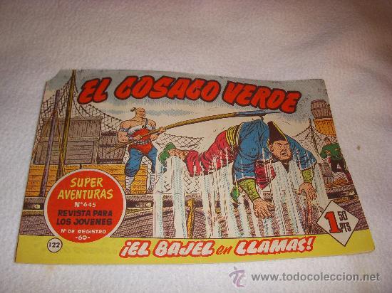 EL COSACO VERDE Nº 122, EDITORIAL BRUGUERA (Tebeos y Comics - Bruguera - Cosaco Verde)