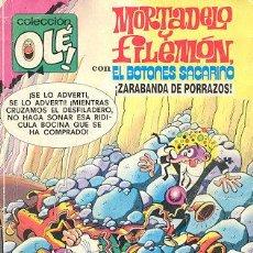 Tebeos: MORTADELO Y FILEMÓN + EL BOTONES SACARINO - ZARABANDA DE PORRAZOS (COLECCIÓN OLE 170-M97). Lote 26674612