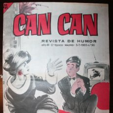 Tebeos: CAN CAN - Nº 90 - AÑO III - 05-07-1965. Lote 26760951