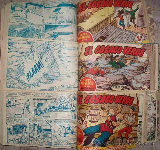 EL COSACO VERDE (BRUGUERA) 144 EJ (COMPLETA ENCUADERNADA EN 3 TOMOS) (Tebeos y Comics - Bruguera - Cosaco Verde)