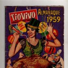 Tebeos: (M-10) TIO VIVO ALMANAQUE 1959 - EDT BRUGUERA , SEÑALES DE USO. Lote 27025681
