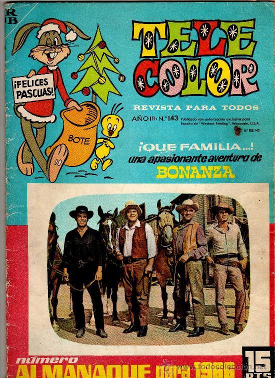 (M-1) TELE COLOR ALMANAQUE PARA 1966 - BONANZA - EDT BRUGUERA, SEÑALES DE USO (Tebeos y Comics - Bruguera - Tele Color)