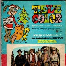 Tebeos: (M-1) TELE COLOR ALMANAQUE PARA 1966 - BONANZA - EDT BRUGUERA, SEÑALES DE USO. Lote 27311465