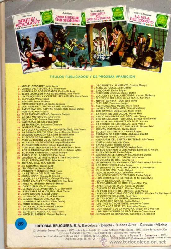 Tebeos: AVENTURAS DE JACK - ALPHOSE DAUDET - JOYAS LITERARIAS - Nº 89 1973- ED. BRUGUERA - Foto 2 - 27542642