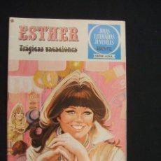 Tebeos: JOYAS LITERARIAS - SERIE AZUL - ESTHER TRAGICAS VACACIONES - Nº 28 - 1ª EDIC. - 1.979. Lote 27552471