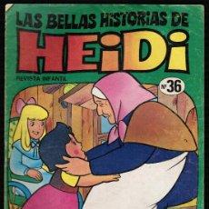 Tebeos: LAS BELLAS HISTORIAS DE HEIDI. Nº 36 - BRUGUERA. Lote 27687389