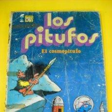 Tebeos: LOS PITUFOS EL COSMOPITUFO EL PITUFADOR DE LLUVIA AÑO 1983 EDITORIAL BRUGUERA . Lote 27731192