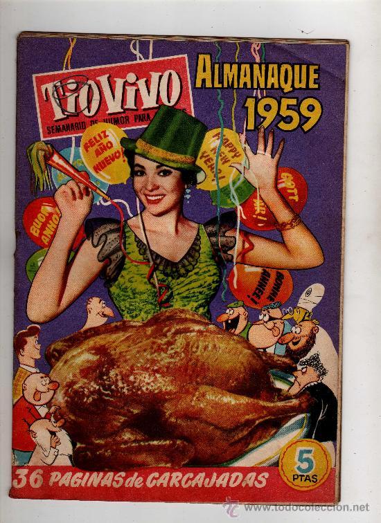 (M-10) ALMANAQUE TIO VIVO 1959 - EDT BRUGUERA , POCAS SEÑALES DE USO (Tebeos y Comics - Bruguera - Tio Vivo)