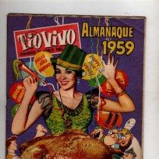 Tebeos: (M-10) ALMANAQUE TIO VIVO 1959 - EDT BRUGUERA , POCAS SEÑALES DE USO. Lote 27759294