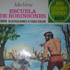 Tebeos: JOYAS LITERARIAS JUVENILES - Nº 108 - JULIO VERNE - ESCUELA DE ROBINSONES -1974. Lote 27846668