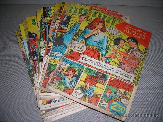 (M-20) LOTE DE 24 NUMEROS , COLECCION SISSI, SUPLEMENTO DE NOVELAS GRAFICAS, EDT BRUGUERA, (Tebeos y Comics - Bruguera - Sissi)