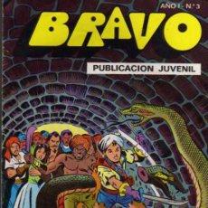 Tebeos: BRAVO AÑO I Nº 3 - EDITORIAL BARCELONA / BRUGUERA - 1976. Lote 28176485