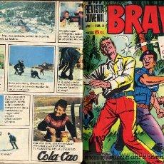 Tebeos: BRAVO REVISTA JUVENIL DEL Nº1 AL 40 -AÑO 1968-BRUGUERA-2 TOMOS MUY BIEN ENCUADERNADOS CAJA 188. Lote 28248982