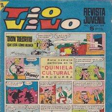 Tebeos: TIO VIVO Nº 364 CON CROMOS DE FUTBOL RODILLA-COBO-ZALDUA-PONCE . Lote 28350783