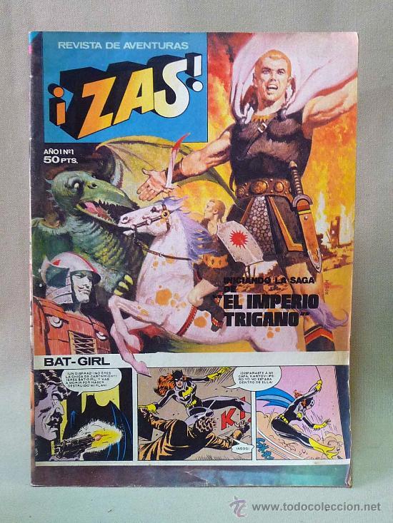 COMIC, ZAS, REVISTA DE AVENTURAS, AÑO I, Nº 1, BRUGUERA, 1979 (Tebeos y Comics - Bruguera - Cuadernillos Varios)