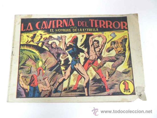 ANTIGUO TEBEO EL HOMBRE DE LA ESTRELLA Nº 6 - LA CAVERNA DEL TERROR - ED. BRUGUERA - TOTALMENTE ORIG (Tebeos y Comics - Bruguera - Otros)