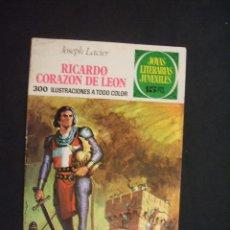 Tebeos: JOYAS LITERARIAS JUVENILES - Nº 19 - RICARDO CORAZON DE LEON - 15 PESETAS - BRUGUERA - . Lote 28521264