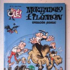 Tebeos: MORTADELO Y FILEMON - Nº 75 - OPERACION BOMBA - OLE! - 1ª EDICION, AÑO 1994. Lote 28685933