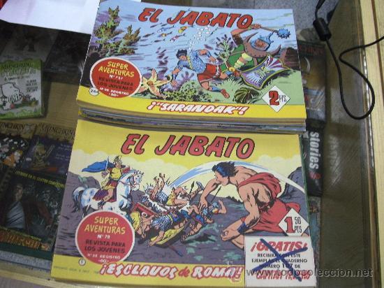 EL JABATO / LOTE DE 183 NUMEROS / REEDICION / EDICIONES B / SE VENDEN SUELTOS (Tebeos y Comics - Bruguera - Jabato)
