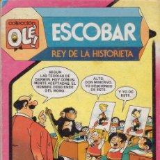 Tebeos: ESCOBAR. REY DE LA HISTORIETA. COLECCIÓN OLÉ Nº 293. CON LAS PRIMERAS HISTORIETAS DE ZIPI Y ZAPE. . Lote 28994577