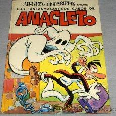Tebeos: ALEGRES HISTORIETAS Nº 19 CON ANACLETO. BRUGUERA 1ª ED. 1972. MUY DIFÍCIL Y .. Lote 29013050