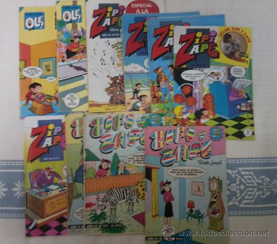 ZIPI Y ZAPE - LOTE DE 10 NUMEROS. (Tebeos y Comics - Bruguera - Ole)