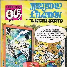 Tebeos: MORTADELO Y FILEMON CON EL BOTONES SACARINO. A MAMPORRO DIARIO. COLECCION OLE NUMERO 194. Lote 29739794