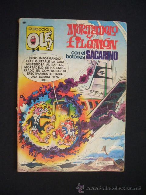 COLECCION OLE - MORTADELO Y FILEMON CON EL BOTONES SACARINO - 1ª EDICION 1978 - BRUGUERA - (Tebeos y Comics - Bruguera - Ole)