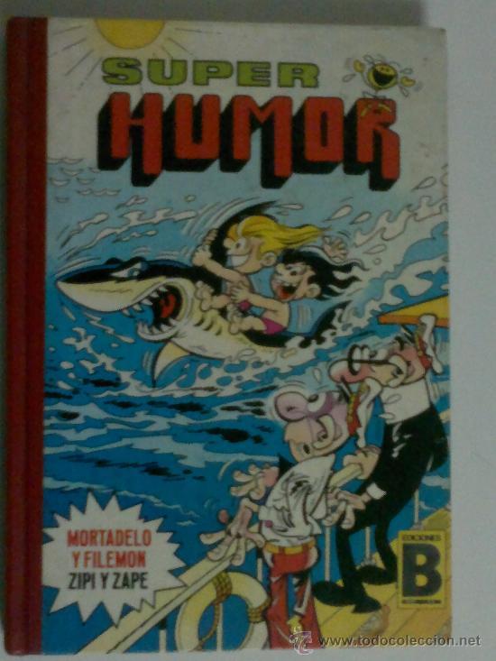 SUPER HUMOR 13 ZIPI Y ZAPE MORTADELO Y FILEMON EDICIONES B PAGINAS FINALES AL REVES (VER FOTOS) (Tebeos y Comics - Bruguera - Super Humor)