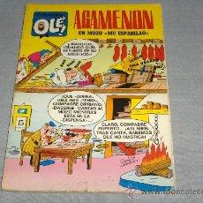 Tebeos: OLÉ Nº 13 AGAMENÓN. BRUGUERA 1ª EDICIÓN CON Nº EN LOMO 1970 40 PTS. DIFÍCIL!!!!!!!. Lote 29857766