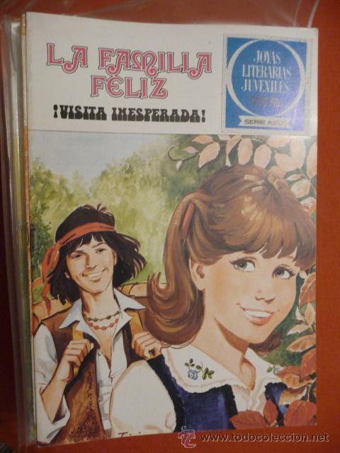 JOYAS LITERARIAS JUVENILES. SERIE AZUL. Nº 21.LA FAMILIA FELIZ. ¡VISITA INESPERADA!. BRUGUERA. (Tebeos y Comics - Bruguera - Joyas Literarias)