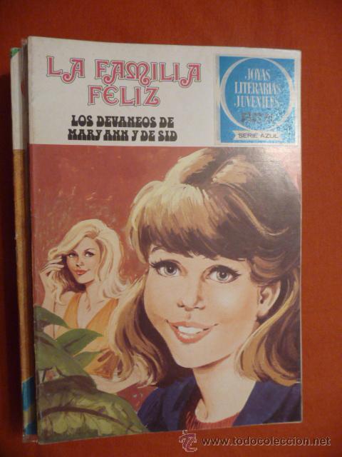 JOYAS LITERARIAS JUVENILES. SERIE AZUL. Nº 50. LA FAMILIA FELIZ. LOS DEVANEOS DE MARY ANN Y DE SID (Tebeos y Comics - Bruguera - Joyas Literarias)