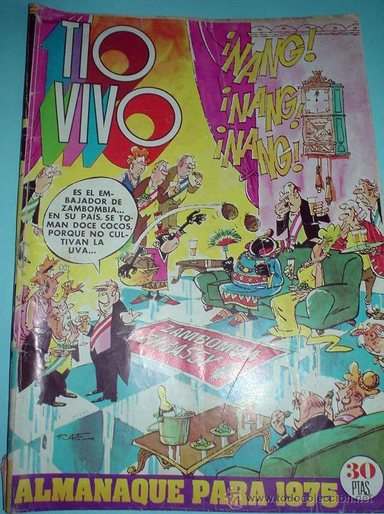 COMIC. TIO VIVO. ALMANAQUE PARA 1975. (Tebeos y Comics - Bruguera - Tio Vivo)