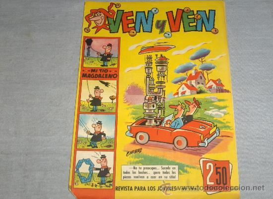 VEN Y VEN Nº 5 CON JABATO. BRUGUERA 1959. 2,50 PTS. MUY DIFÍCIL Y . (Tebeos y Comics - Bruguera - Jabato)