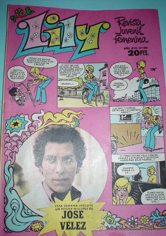 LILY. REVISTA JUVENIL FEMENINA. Nº 861 5/06/1978 ANUNCIO NENUCO. COMIC (Tebeos y Comics - Bruguera - Lily)