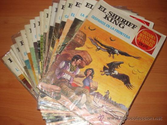LOTE DE 11 TEBEOS / COMICS DE EL SHERIFF KING. EDITORIAL BRUGUERA. (Tebeos y Comics - Bruguera - Sheriff King)