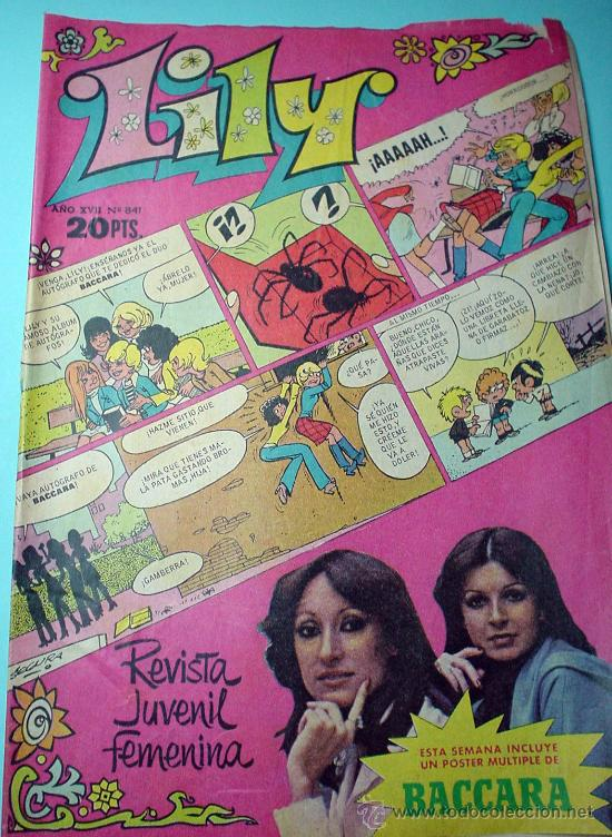 LILY. REVISTA JUVENIL FEMENINA. Nº 841 16/01/1978 ANUNCIO NENUCO. COMIC (Tebeos y Comics - Bruguera - Lily)