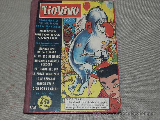 (M-10) TIO VIVO - LOTE DE 16 NUMEROS ENCUADERNADOS ,VER LISTADO , EXTRAORDIANRIO HOMENAJE PEPE (Tebeos y Comics - Bruguera - Tio Vivo)