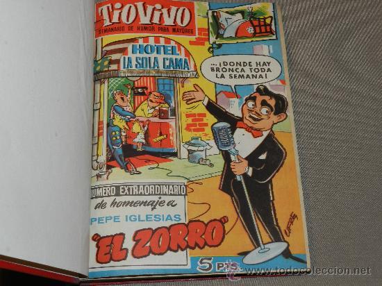 Tebeos: (M-10) TIO VIVO - LOTE DE 16 NUMEROS ENCUADERNADOS ,VER LISTADO , EXTRAORDIANRIO HOMENAJE PEPE - Foto 2 - 30587356